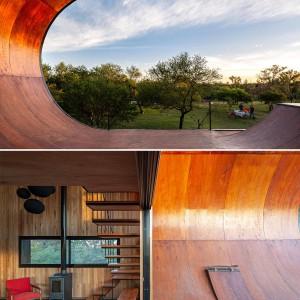 تصویر - طراحی رامپ اسکیت برد در تراس خانه ای در آرژانتین - معماری