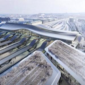 عکس - مدرنسازی ایستگاه راهآهن ویلنیوس ، اثر معماران زاها حدید