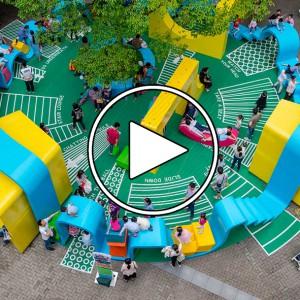 عکس - فضای بازی شهری Blue Ribbon ، اثر استودیو معماری 100architects ، چین