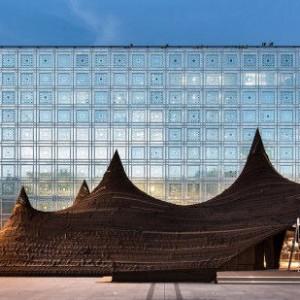 عکس - یک چادر عظیم با نوآوریهای فنی معاصر و شیوه بافت سنتی ، اثر ژان نوول