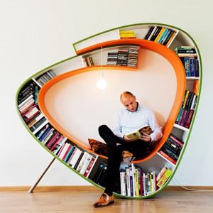 عکس - قفسه کتاب Bookworm ، اثر تیم طراحی Atelier 010