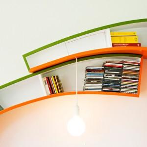 تصویر - قفسه کتاب Bookworm ، اثر تیم طراحی Atelier 010 - معماری