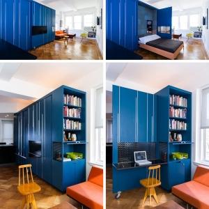 تصویر - راه حل سفارشی صرفه جویی درفضا برای آپارتمانی کوچک در نیویورک - معماری