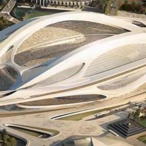 عکس - پرهزینهترین استادیوم المپیک همچنان در صدر اخبار رسانههای ژاپن