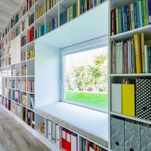 عکس - دیوار رویایی برای دوستداران کتاب