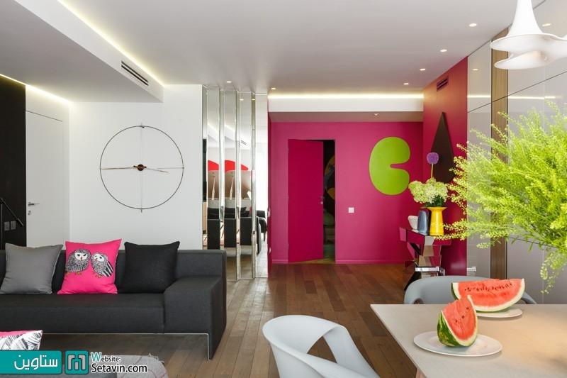 یک آپارتمان زیبا در روسیه